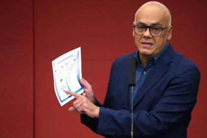 Jorge Rodríguez, ministro de Comunicación del régimen de Nicolás Maduro (Reuters/ Ivan Alvarado)