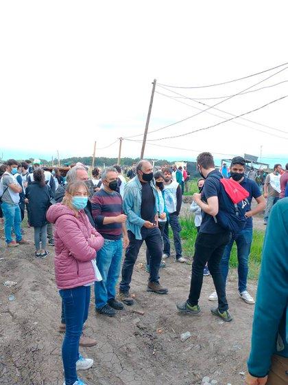 Los funcionarios del gobernador Axel Kicillof, junto a los organismos de derechos humanos que hacen de veedores del censo