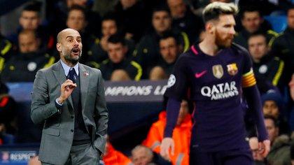 Guardiola fue clave durante la formación de Lionel Messi en el Barcelona (Foto: Reuters)