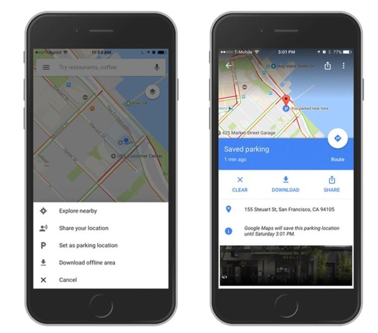 Desde 2017 Google Maps permite guardar dónde se estacionó el auto.