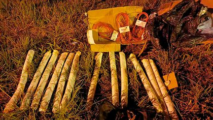 Los explosivos que encontró la Policía Nacional de Paraguay