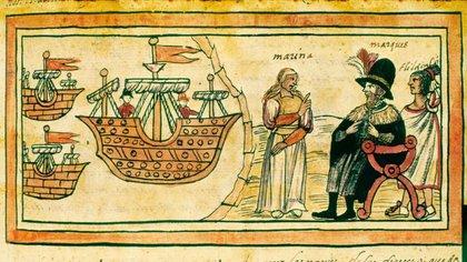 Hernán Cortés y la Malinche (Marina)