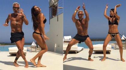 El millonario Gianluca Vacchi suele publicar bailes con su mujer, la modelo Giorgia Gabriele, en su cuenta de Instagram