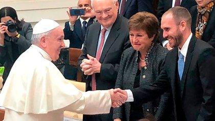 El papa Francisco recibió al ministro Martín Guzmán en el Vaticano