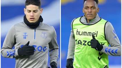 Dolor de cabeza para Everton: James y Mina no estarán disponibles para el partido contra el Aston Villa