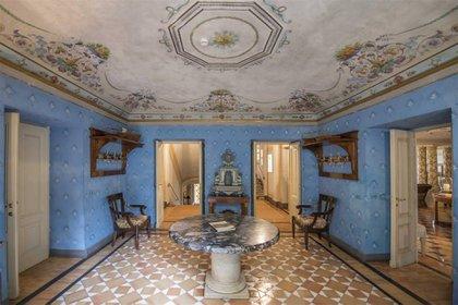 La propiedad fue construida en 1750, pero los interiores datan de la década de 1980