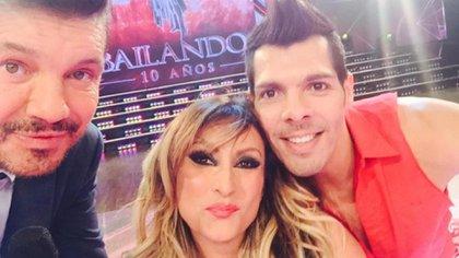 Pier Fitzsche en el Bailando, con Marcela Tauro