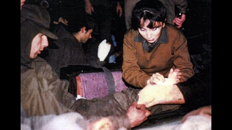 Sonia Escudero, enviada desde el Hospital Aeronautico Central al hospital reubicable de Comodoro Rivadavia. 162