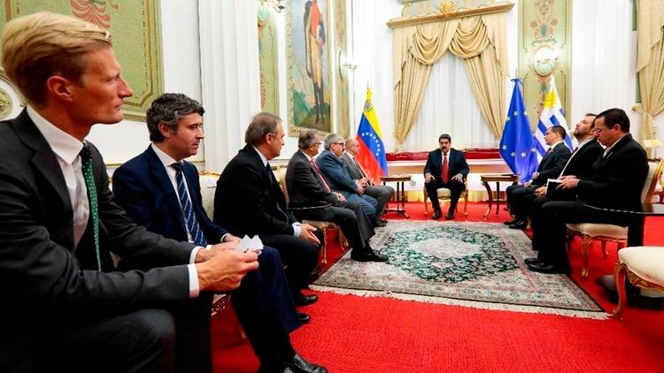 Nicolás Maduro se reunió con el Grupo Internacional de Contacto (Foto: Twitter Nicolás Maduro)