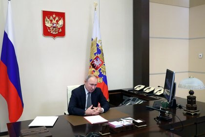 Vladimir Putin. Sputnik/Mikhail Klimentyev/Kremlin via REUTERS ATTENTION EDITORS - THIS IMAGE WAS PROVIDED BY A THIRD PARTY.