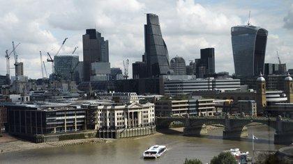 Vista general del distrito financiero de Londres en el Reino Unido. EFE/ANDY RAIN/Archivo