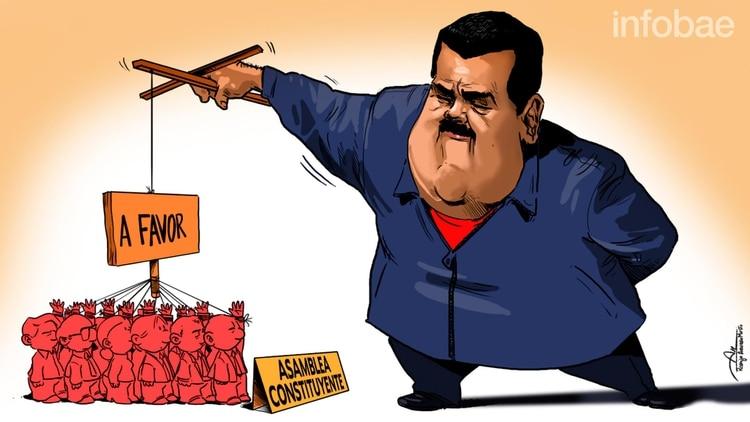 Resultado de imagen para Caricatura de Maduro convocando a elecciones