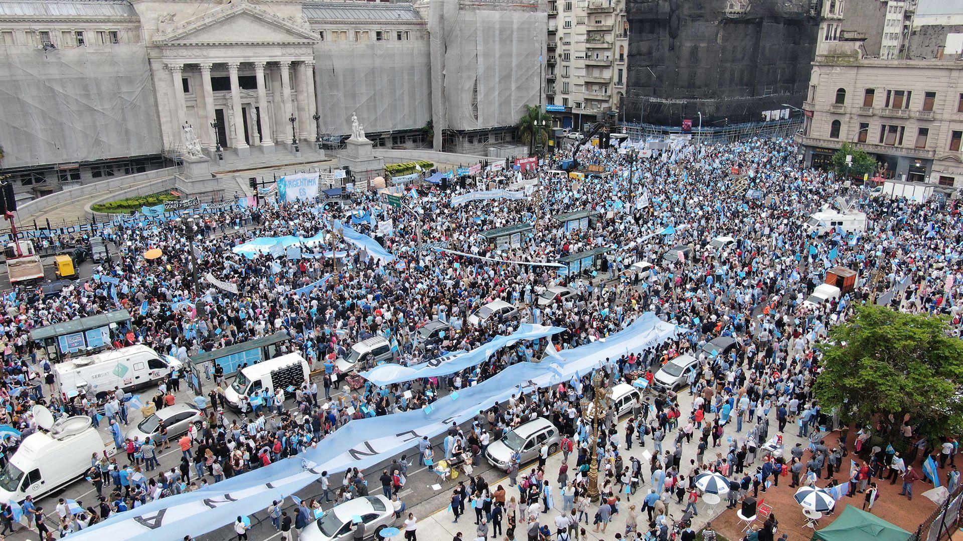 Marcha Aborto Provida Congreso - Drone