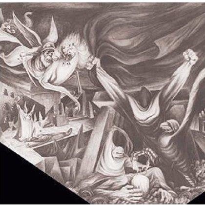 Historia de la mina, 1953. Mural destruído