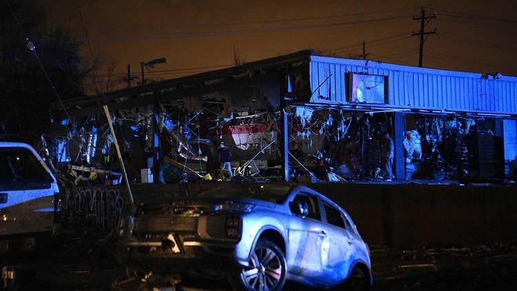 Dos tornados arrasaron durante la madrugada (Courtney Pedroza/The Tennessean via AP)