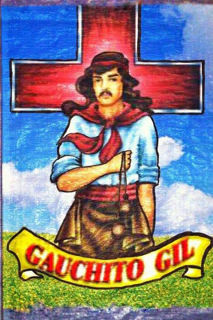 La típica estampa del Gauchito Gil