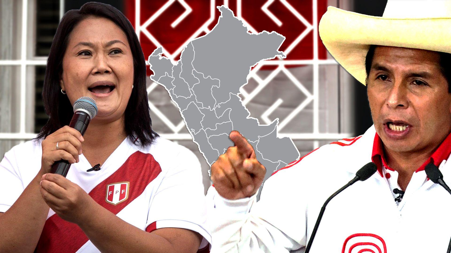Keiko Fujimori Pedro Castillo - Elecciones en Perú