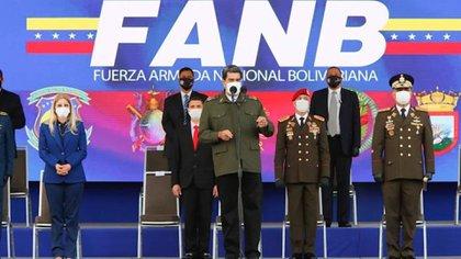 El dictador Nicolás Maduro durante un acto militar en Caracas (Palacio de Miraflores)