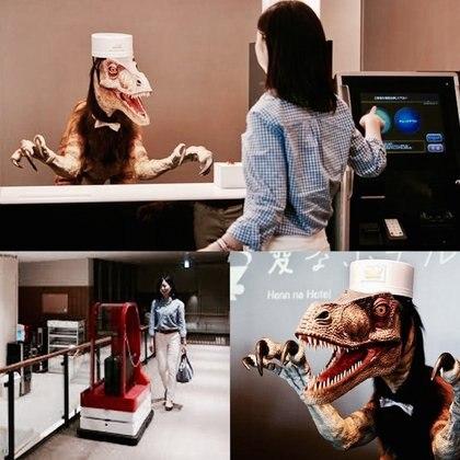 Concerjes, porteros y botones entre las posiciones dentro del hotel usualmente ejercidas por humanos que han sido tomadas por los robots
