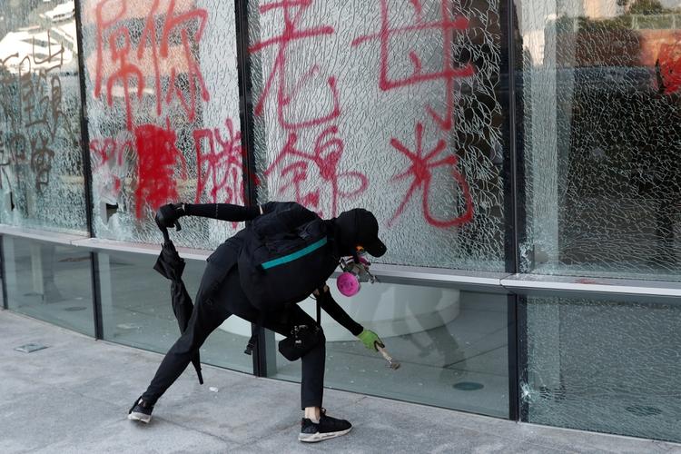 Una imagen de las protestas de este lunes en Hong Kong (REUTERS/Shannon Stapleton)