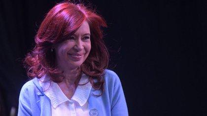 Cristina Kirchner durante la presentación de su libro en Rosario (foto Prensa Unidad Ciudadana)