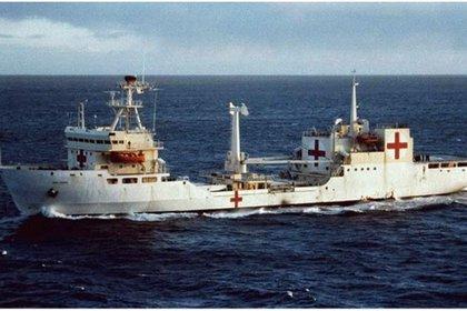El buque Hospital Bahía Paraíso