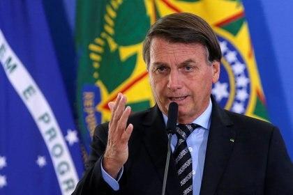 Bolsonaro durante una ceremonia en el Palacio de Planalto (26/11/2020 REUTERS/Adriano Machado)