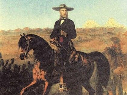 Maximiliano de Habsburgo renunció a sus títulos en Europa para ser Emperador de México (Foto: oleo de Carl Martin Edersberg).
