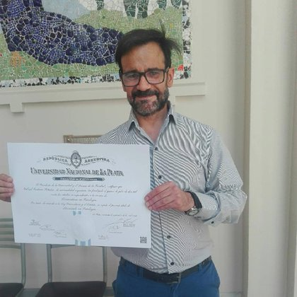 Two months ago Gabriel received his Bachelor of Psychology diploma