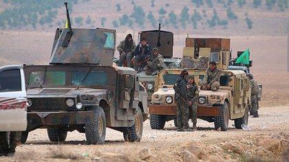 Combatientes kurdos en Siria (Archivo)