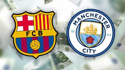 Barcelona y Manchester City estudian realizar un trueque entre sus laterales