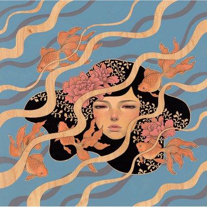 """""""Nosotras flotamos"""", de Audrey Kawasaki, en la Merry Karnowsky Gallery, Los Angeles, EE.UU."""