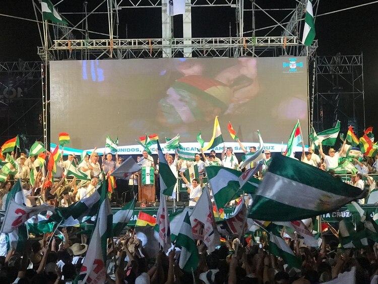 El evento se prolongó hasta la noche en la ciudad boliviana.