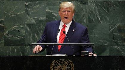 Donald Trump se dirige a la 74ª sesión de la Asamblea General de las Naciones Unidas en la sede de la ONU en la ciudad de Nueva York, Nueva York, EE.UU., el 24 de septiembre de 2019 (REUTERS/Lucas Jackson)