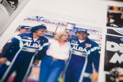 Carlos Menem, Karina Rabolini y Daniel Scioli, durante la primera etapa de los 1000 km del Delta, un día antes del accidente