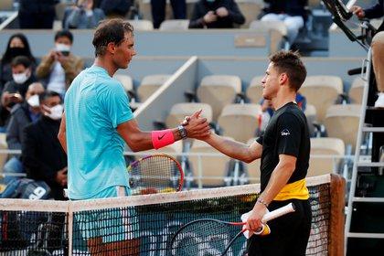 Diego Schwartzman ha caído ante Rafael Nadal en las semifinales de Roland Garros (REUTERS)