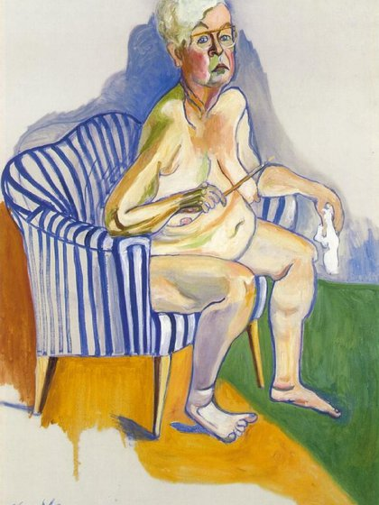 """""""Autorretrato"""" (1980, National Portrait Gallery, Washington, Estados Unidos)"""