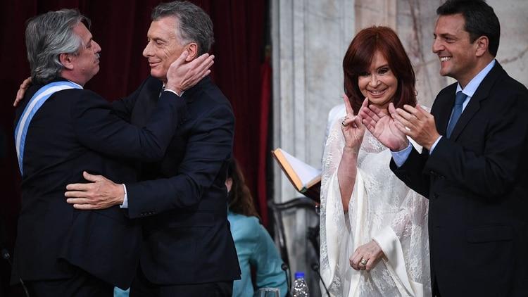 Alberto Fernández, Mauricio Macri, Cristina Kirchner y Sergio Massa