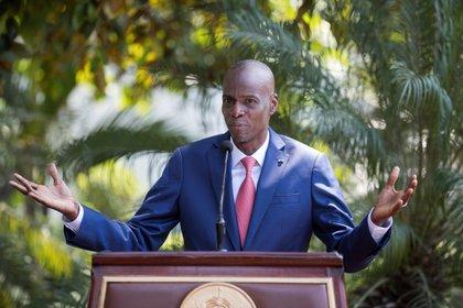 Jovenel Moise sostiene que sigue siendo presidente legítimo de Haití (EFE/Orlando Barría)