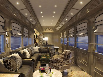 El tren tendrá un lounge con piano de media cola para relajarse y un observatorio descubierto para relajarse bebiendo un pisco con el paisaje de los Andes