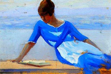 """""""La joven esposa del pintor"""", de Clarence Gagnon pertenece a una colección privada."""