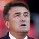 FILE PHOTO: Former Serbia coach Radomir Antic is seen during a 2010 World Cup Group D soccer match against Germany in Port Elizabeth June 18, 2010. REUTERS/Kai Pfaffenbach/File Photo