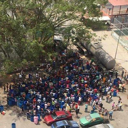 Foto de la protesta vista desde arriba