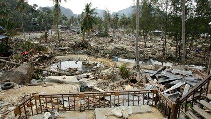 Así quedó el paraíso luego del paso arrasador del tsunami (Shutterstock)