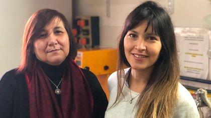 Patricia Vázquez y Romina Arreche lideraron el proyecto argentino (CONICET)