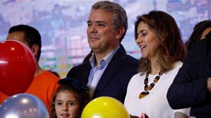 El presidente Iván Duque y la primera dama María Juliana Ruiz (Reuters)