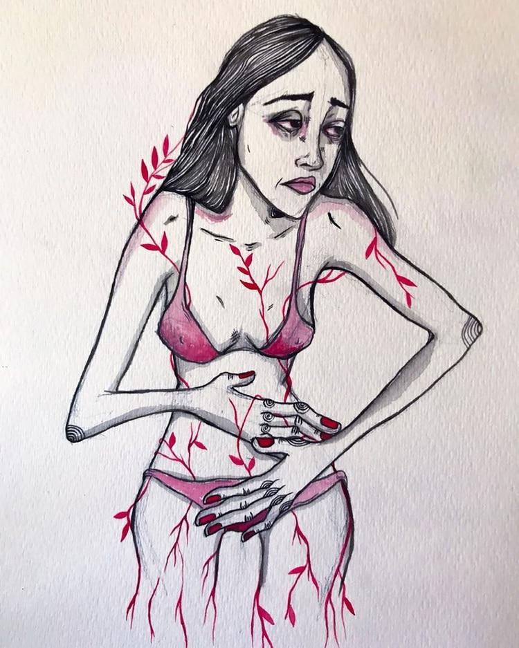 Personajes que sufren y sienten (IG: @andieferz_)