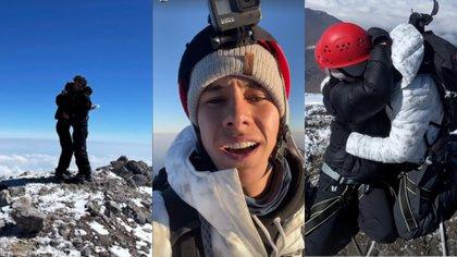 Juanpa Zurita subió al Pico de Orizaba (Foto: Twitter / @juanpazurita)