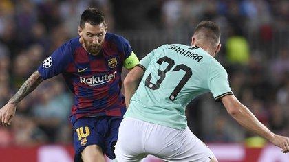Lionel Messi fue titular este miércoles ante el Inter AFP)