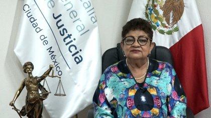 La titular de la Fiscalía capitalina, Ernestina Godoy, informó que redoblarán esfuerzos para evitar feminicidos y violaciones, estas últimas van en aumento Foto: (FGJ CDMX)